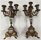 BRASS CANDELABRA SET MADE IN FRANCE